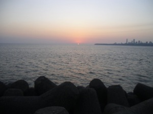 The ocean, Marine Drive, Mumbai. If that part of the sea shown here were the British population, I'm pretty sure the proportion I have taught would be invisible.