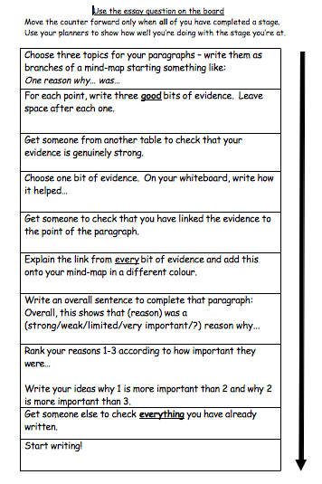 supporting students to write good history essays improving teaching screen shot 2013 11 29 at 10 54 13