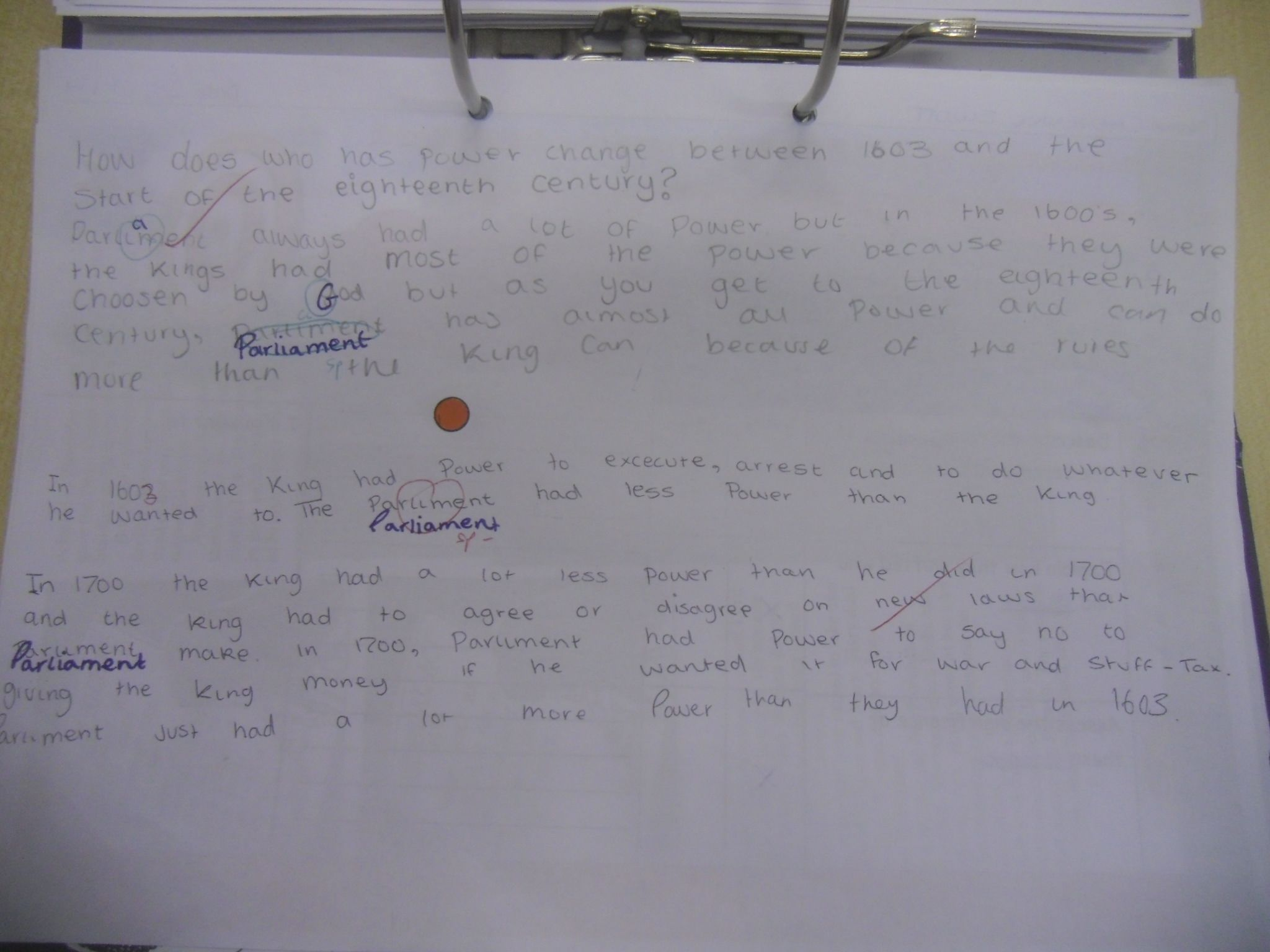 What if you marked every book, every lesson?  RAG marking: Daily feedback